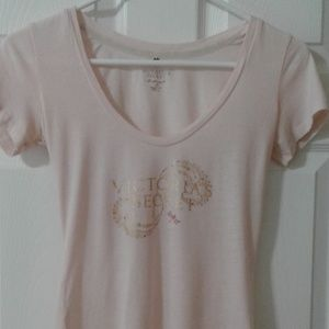 🎀VS SEMI SHEER FITTED TEE sz extra small🎀